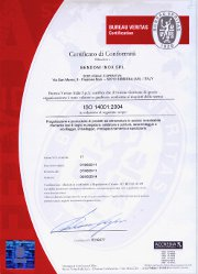 ISO 14001 - Certificate of conformity