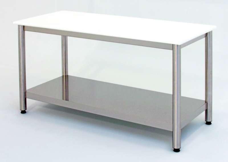 Tavolo con piano in polietilene