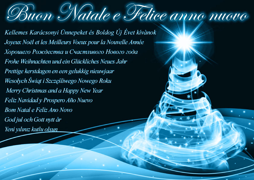 CHRISTMAS AND YEAR-END FESTIVITIES * FESTIVITA NATALIZIE E DI FINE ANNO